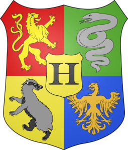 Hogwarts Coat of Arms, by Jmh2o. CC-BY-SA-3.0-2.5-2.0-1